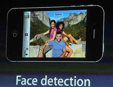 iphone 4S face detection iPhone 4S Features and Properties   New Camera Technology