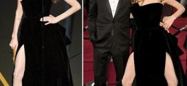 Angelina Jolie Oscar Right Leg Pose Gallery