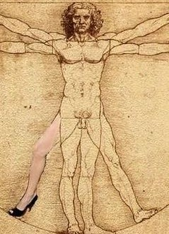 Leonardo Da Vinci Right Leg