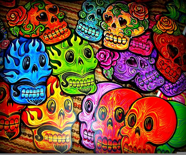 Colorful Skulls Android Wallpapers